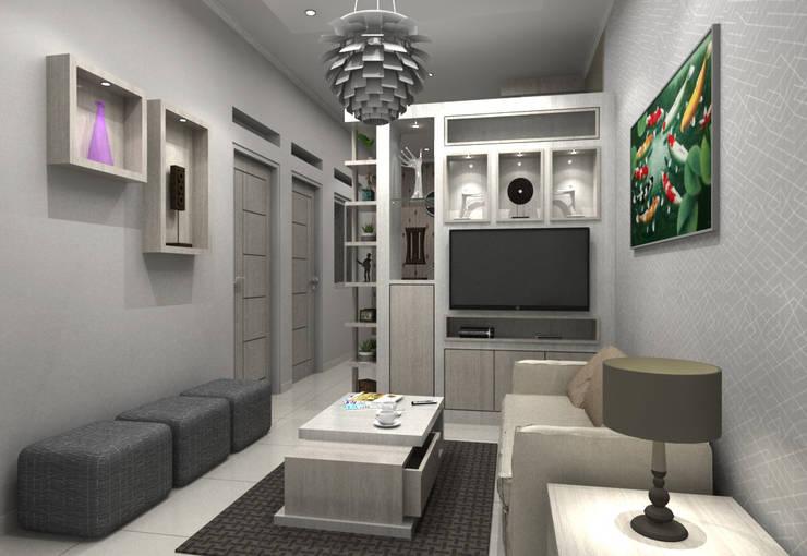 Pinus Agency Bandung: Ruang Keluarga oleh Maxx Details, Minimalis
