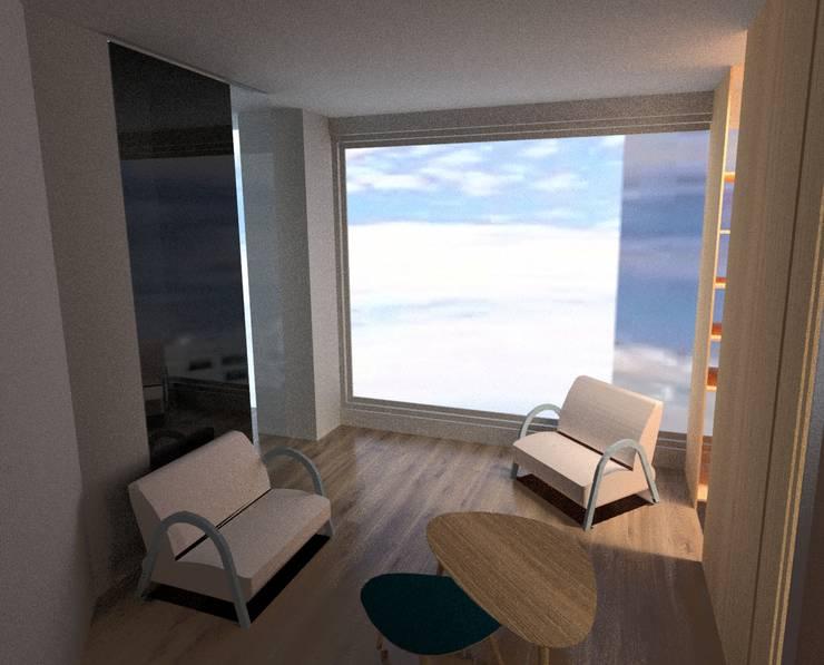 Remodelacion Phent House Torres de Colon - Rodadero Santat Marta : Salas de estilo  por NOGUERA ARQUITECTOS