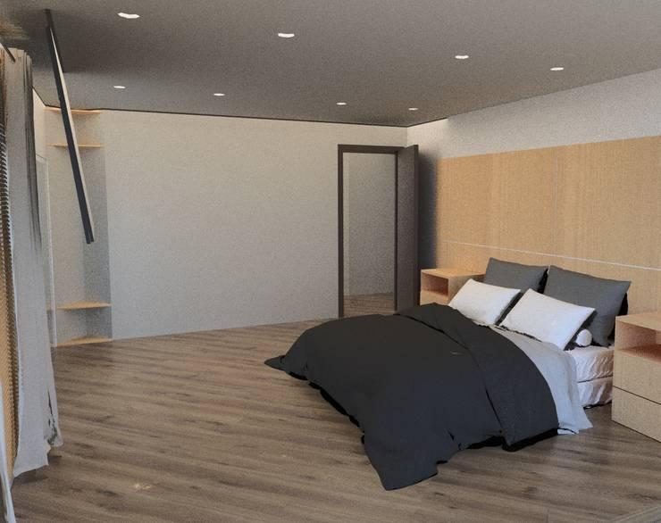Remodelacion Phent House Torres de Colon – Rodadero Santat Marta : Habitaciones de estilo  por NOGUERA ARQUITECTOS