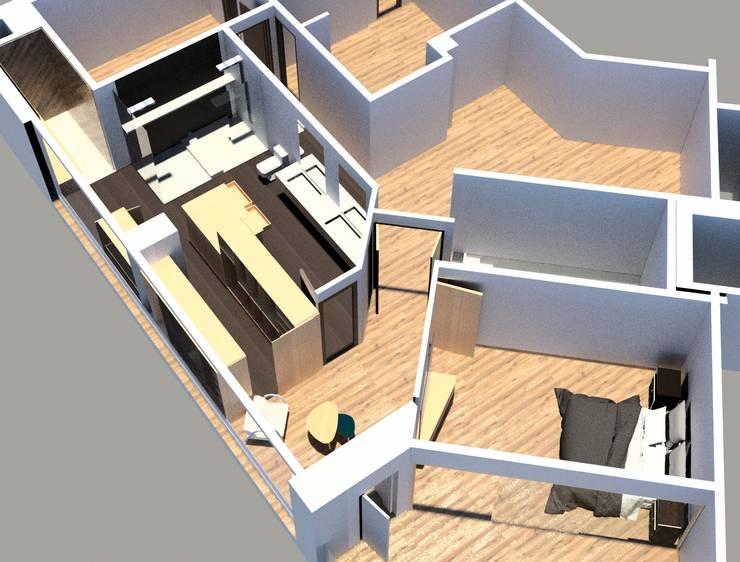 Remodelacion Phent House Torres de Colon – Rodadero Santat Marta : Vestidores de estilo  por NOGUERA ARQUITECTOS