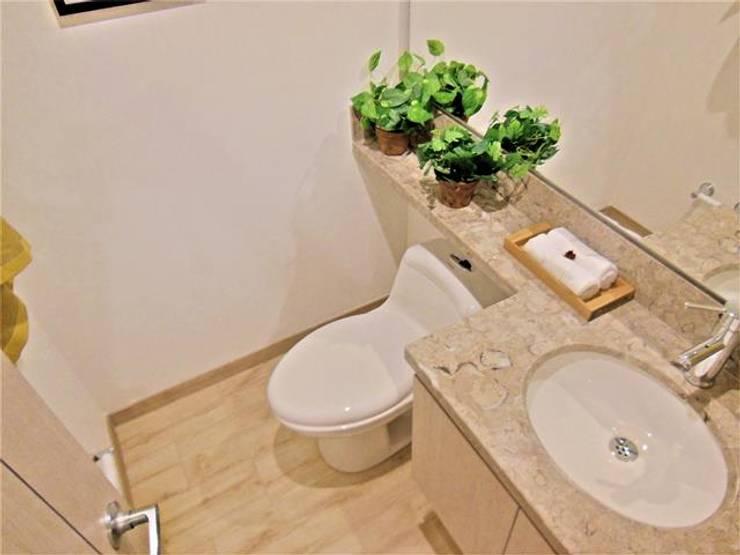 Baño Social: Baños de estilo  por AlejandroBroker,