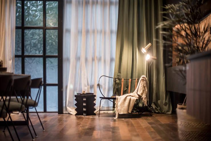 Open Kitchen : Livings de estilo  por Tumburus Lucas - Diseño y Arquitectura Interior,