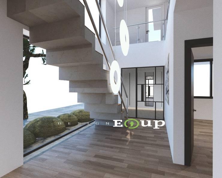 Couloir et hall d'entrée de style  par 디자인 이업