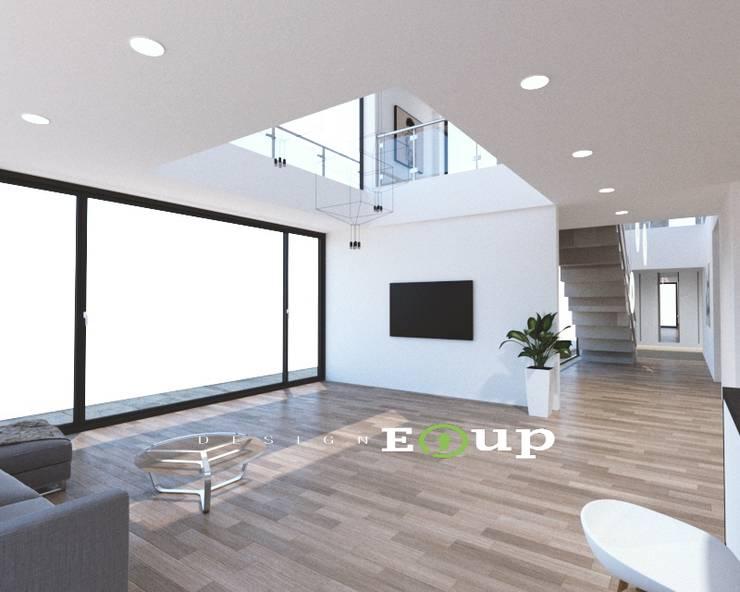 Salas / recibidores de estilo  por 디자인 이업