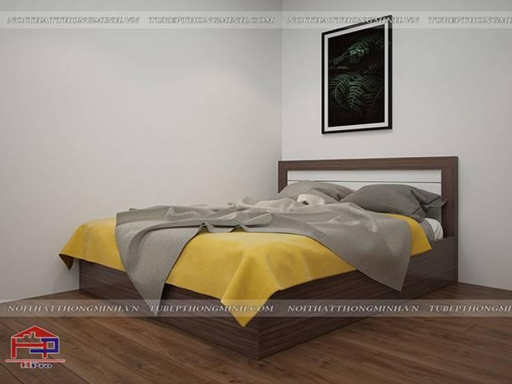 Ảnh 3D thiết kế nội thất phòng ngủ cho bé nhà chị Giang ở Quảng Ninh :  Bedroom by Nội thất Hpro