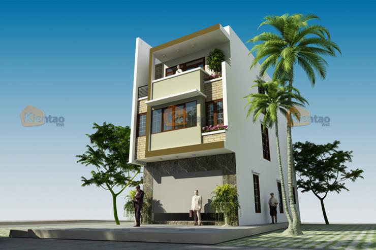Mẫu thiết kế nhà phố đẹp 6,5x15m tại Đông Anh – NP 133:  Văn phòng & cửa hàng by CÔNG TY CỔ PHẦN XD&TM KIẾN TẠO VIỆT
