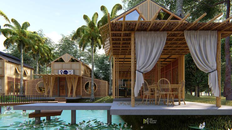 PIRAIPINA:  บ้านไม้ by GRID ARCHITECT THAILAND