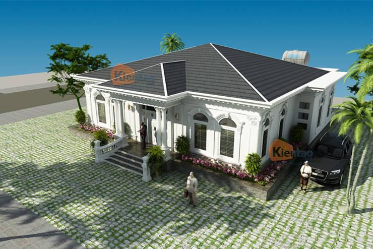 Thiết kế biệt thự vườn 1 tầng tân cổ điển mái thái – Nam Định – BT 97:  Biệt thự by CÔNG TY CỔ PHẦN XD&TM KIẾN TẠO VIỆT