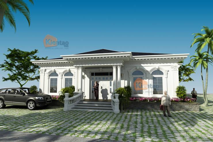 Thiết kế biệt thự vườn 1 tầng tân cổ điển mái thái – Nam Định – BT 97:   by CÔNG TY CỔ PHẦN XD&TM KIẾN TẠO VIỆT