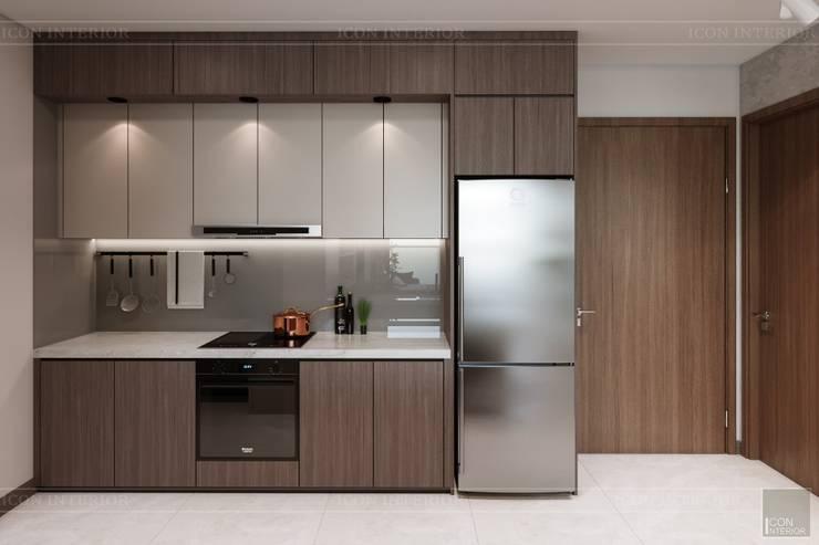 THIẾT KẾ HIỆN ĐẠI TRONG CĂN HỘ VINHOMES CENTRAL PARK:  Nhà bếp by ICON INTERIOR