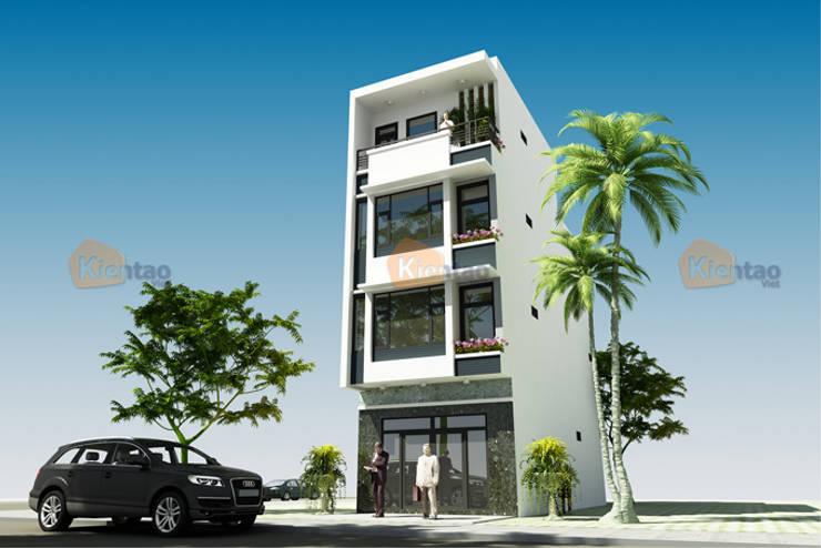 Nhà phố 4 tầng 5,1×12,5m tại Tiền Hải – NP134:  Nhà cho nhiều gia đình by CÔNG TY CỔ PHẦN XD&TM KIẾN TẠO VIỆT
