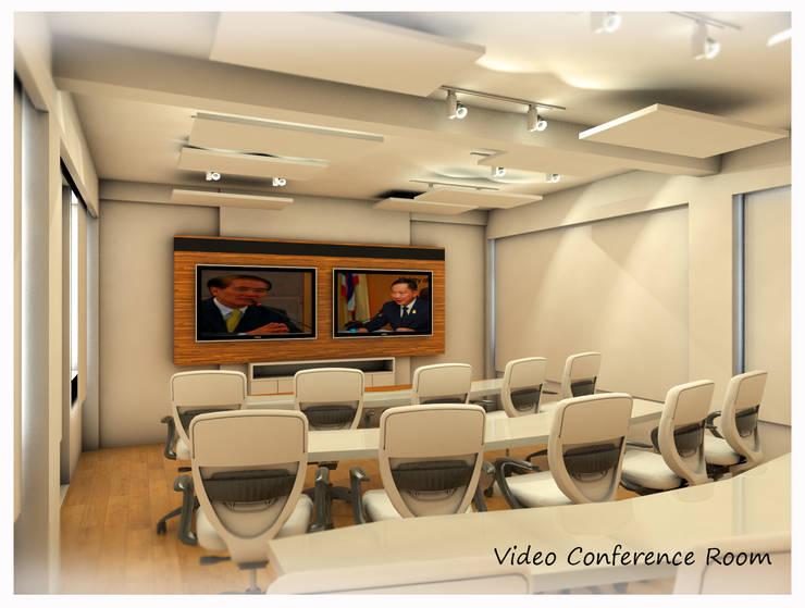 Project : งานออกแบบตกแต่ง ห้องประชุม:  ตกแต่งภายใน by Hip and Classic Design Studio