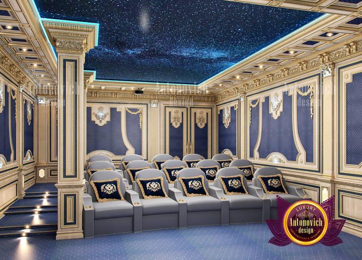 Enormous Home Cinema Design:   by Luxury Antonovich Design