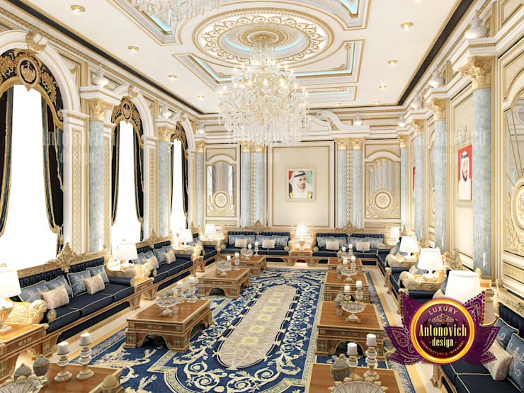 Unique Stunning Majlis Interior:   by Luxury Antonovich Design