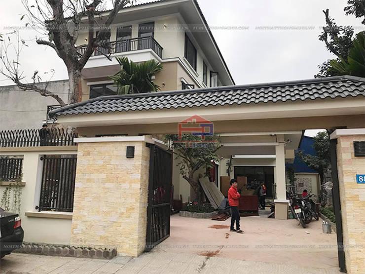 Ảnh thực tế căn biệt thự nhà anh Việt ở Thái Nguyên:  Kitchen by Nội thất Hpro
