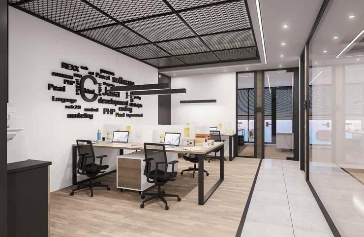 VERO CONCEPT MİMARLIK – Avatek Yazılım Ofis:  tarz Ofis Alanları,