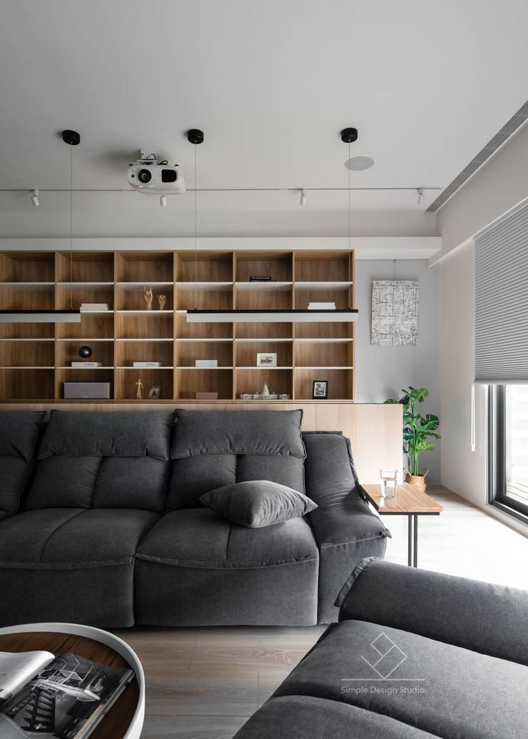 書房閱讀區:  書房/辦公室 by 極簡室內設計 Simple Design Studio