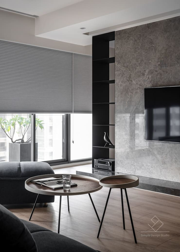 機櫃:  客廳 by 極簡室內設計 Simple Design Studio