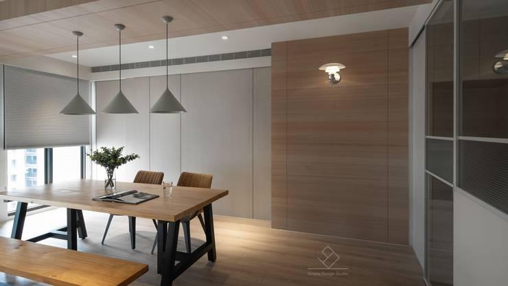 餐廳空間:  餐廳 by 極簡室內設計 Simple Design Studio
