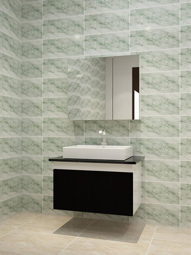 Ảnh 3D thiết kế tủ lavabo nhựa picomat dán acrylic :  Bathroom by Nội thất Hpro