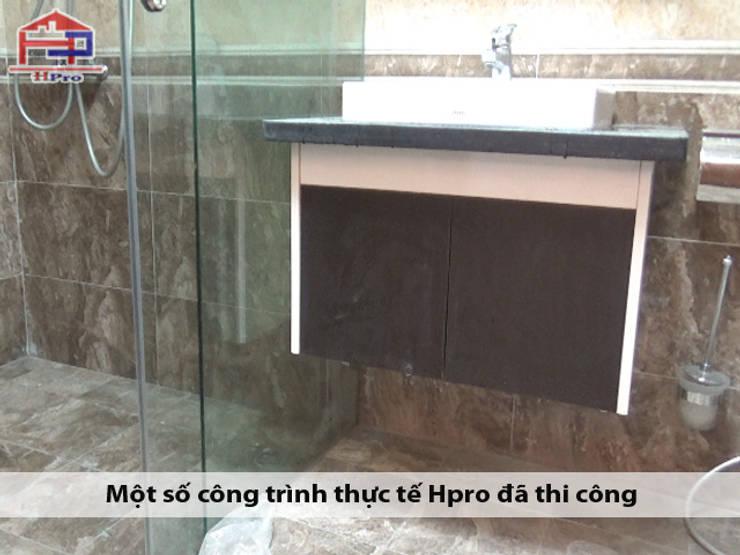 Hình anh thực tế tủ lavabo nhà chị Ngọc ở Chùa Láng:  Bathroom by Nội thất Hpro