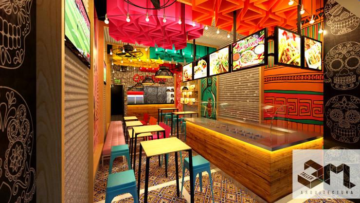 """Punto de atención Restaurante """"Oraleparce"""" /Ibagué - Tolima: Espacios comerciales de estilo  por Taller 3M Arquitectura & Construcción"""