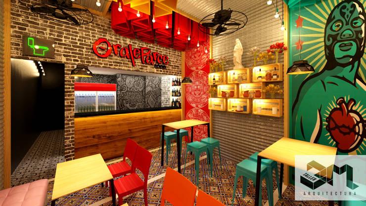 """Restaurante """"Oraleparce"""" /Ibagué - Tolima: Espacios comerciales de estilo  por Taller 3M Arquitectura & Construcción"""