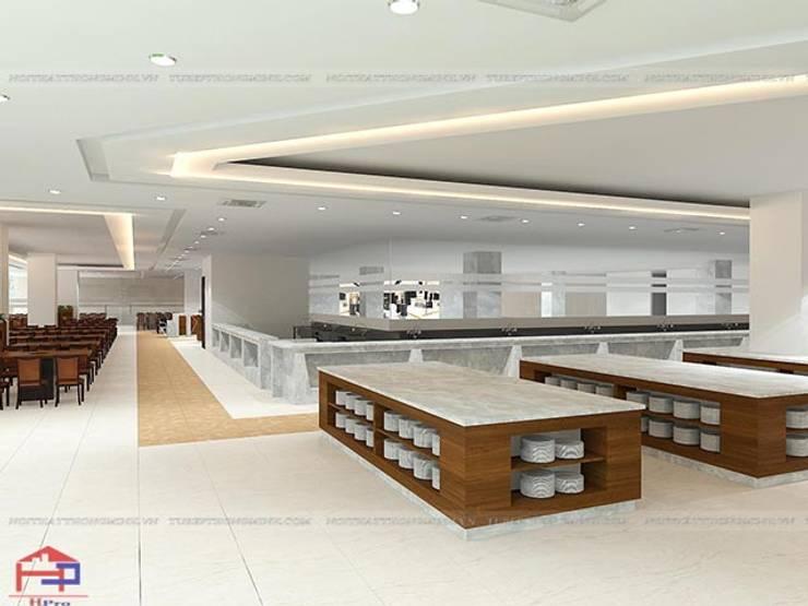 Thiết kế nội thất laminate nhà hàng Buffet Poseidon cơ sở 2 - Thiết kế quầy buffet:  Office spaces & stores  by Nội thất Hpro