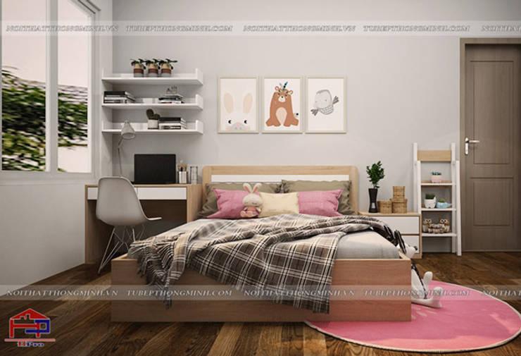Thiết kế nội thất phòng ngủ cho bé gái nhà chị Hương ở Việt Trì:  Bedroom by Nội thất Hpro