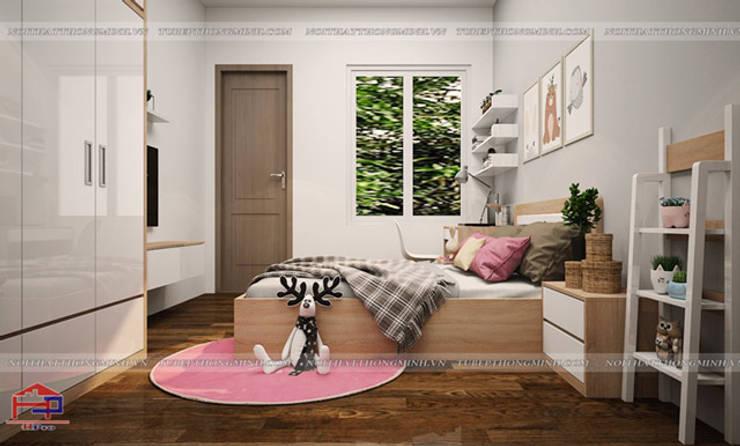 Thiết kế nội thất phòng ngủ cho bé gái nhà chị Hương ở Việt Trì - view 2:  Bedroom by Nội thất Hpro