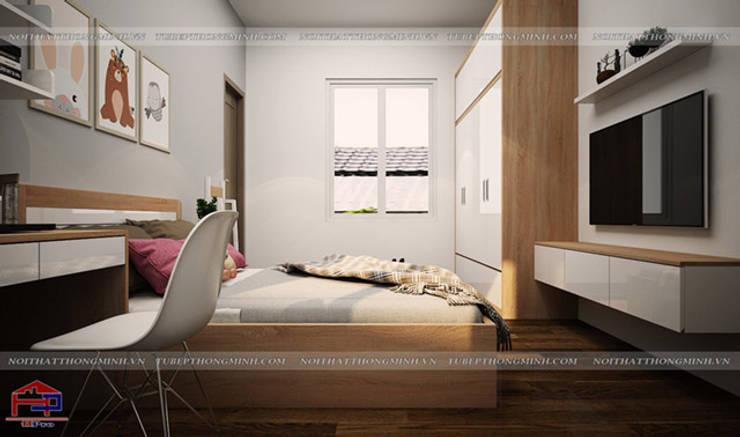 Thiết kế nội thất phòng ngủ cho bé gái nhà chị Hương ở Việt Trì - view 3:  Bedroom by Nội thất Hpro