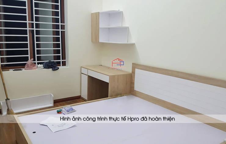 Lắp đặt nội thất phòng ngủ bé trai gỗ laminate nhà chị Hương ở Việt Trì:  Bedroom by Nội thất Hpro