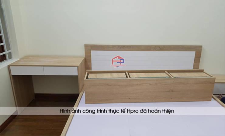 Thi công nội thất phòng ngủ bé gái gỗ laminate nhà chị Hương ở Việt Trì:  Bedroom by Nội thất Hpro