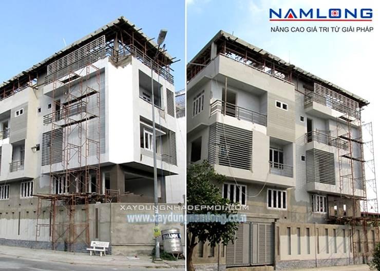 Xây nhà trọn gói:  Nhà by Công ty xây dựng nhà đẹp mới