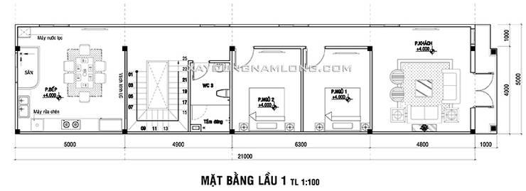 Nhà ống 3 tầng tân cổ điển:  Nhà by Thiết kế nhà đẹp ở Hồ Chí Minh
