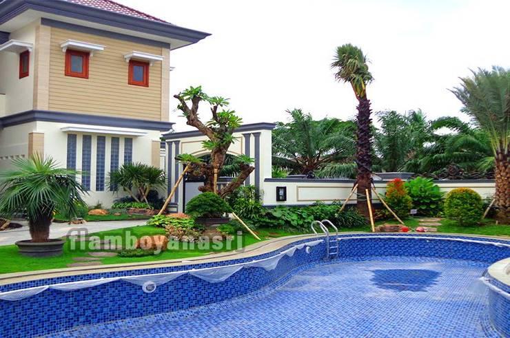 Tukang Taman Surabaya Desain Taman Tropis :  Kolam taman by Tukang Taman Surabaya - flamboyanasri
