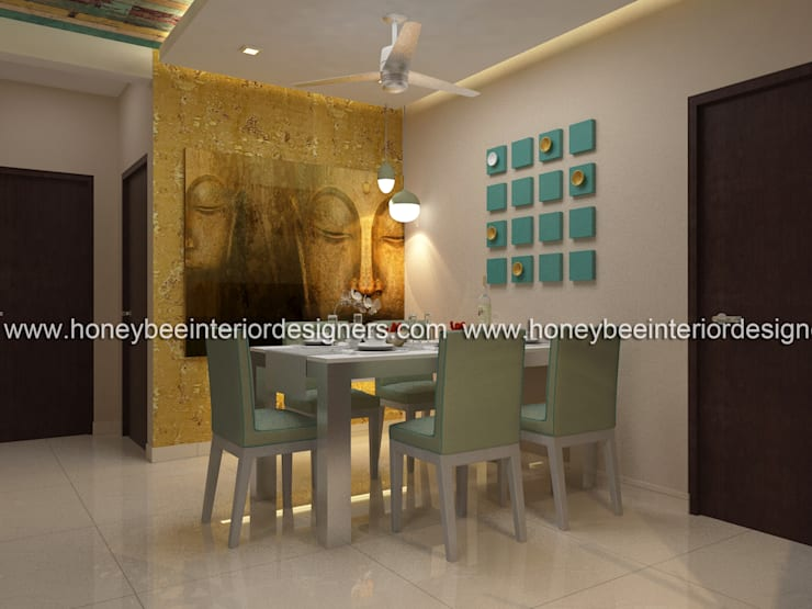 Dining:  Dining room by Honeybee Interior Designers
