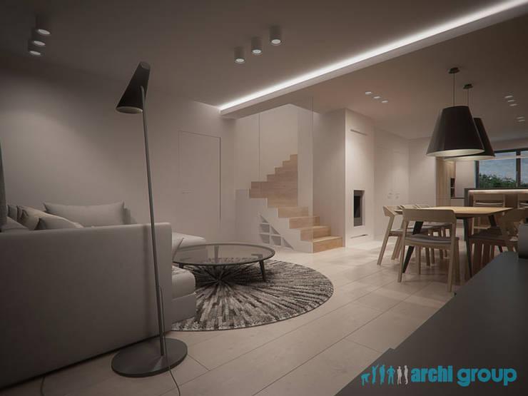 Projekt Wnętrz Salonu Z Kuchnią W Gliwicach By Archi Group