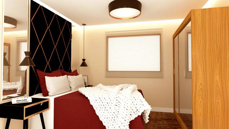 Small bedroom by Caroline Peixoto Interiores