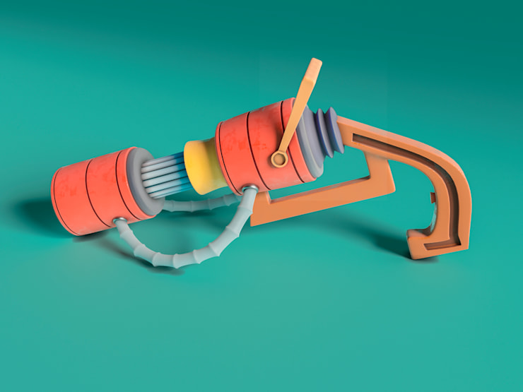 Arma Laser :  de estilo  por AMB arquitectura + visualización