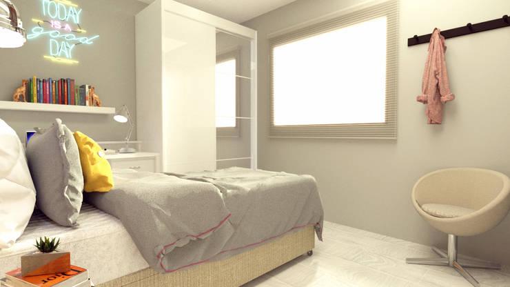 Kamar Tidur oleh Caroline Peixoto Interiores, Modern