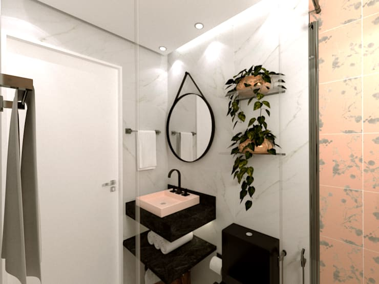 Bathroom by Caroline Peixoto Interiores,