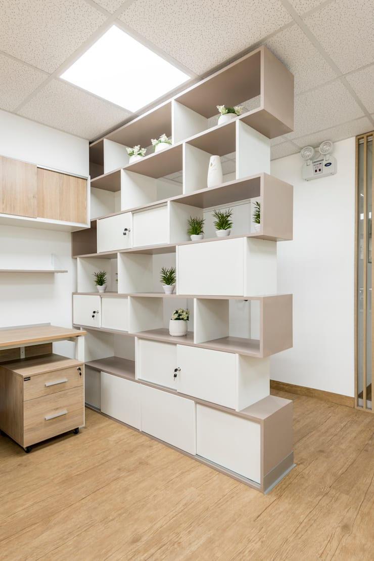 Oficinas Corporatívas – Corpac, San Isidro: Oficinas y Tiendas de estilo  por Baum Studio, Moderno Aglomerado