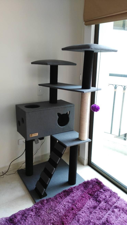 Gimnasio para gatos, referencia Yukon color gris: Hogar de estilo  por ModuCat Estructuras modulares para gatos