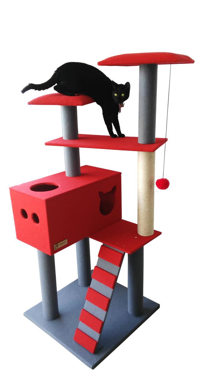 Gimnasio para gatos, referencia Yukon: Hogar de estilo  por ModuCat Estructuras modulares para gatos