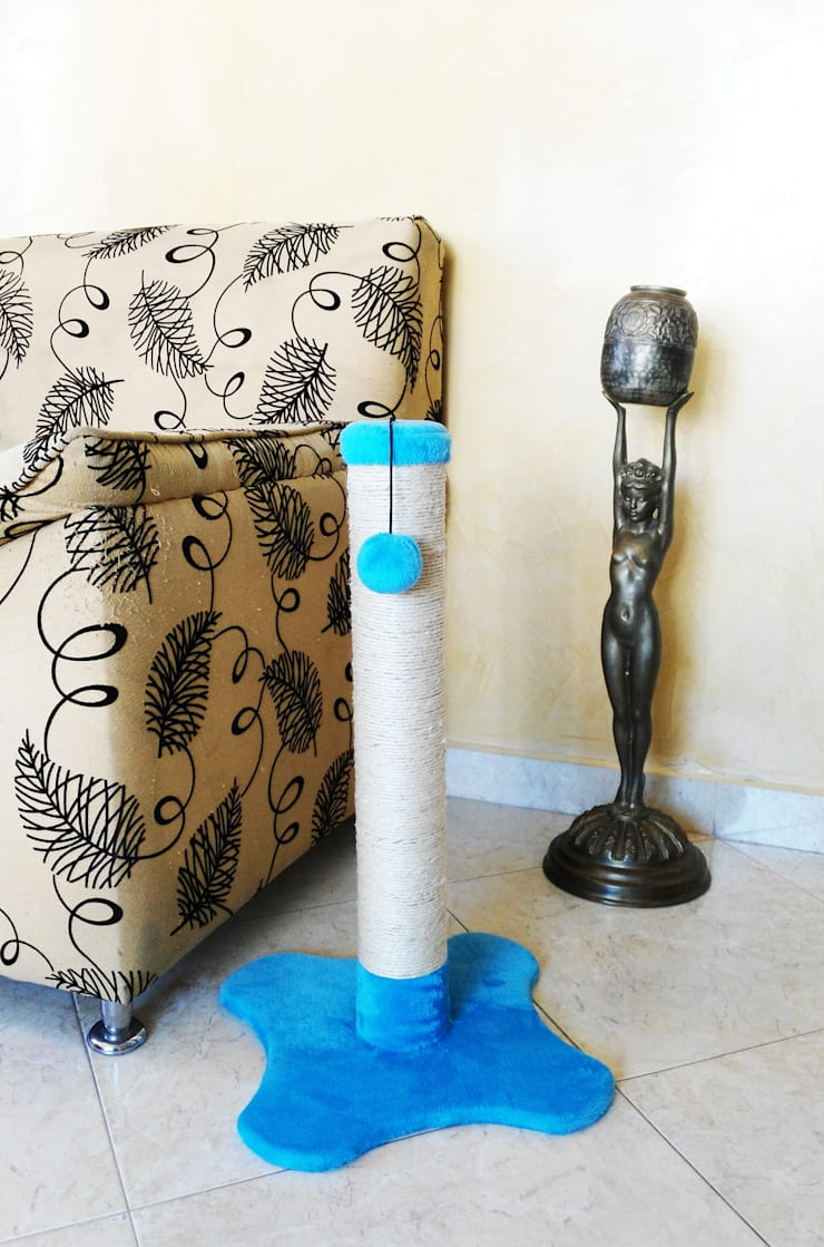 Rascadores para gatos, base piso, 60cm de alto: Hogar de estilo  por ModuCat Estructuras modulares para gatos