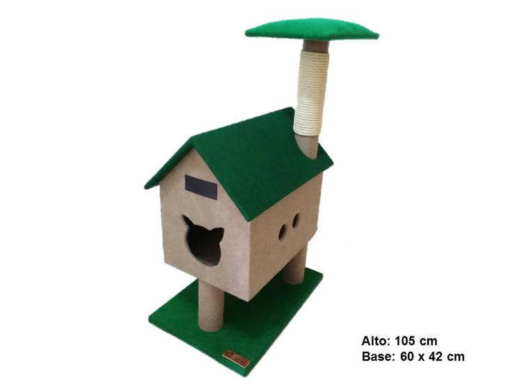 Casita para gato, referencia cabaña del rio: Hogar de estilo  por ModuCat Estructuras modulares para gatos