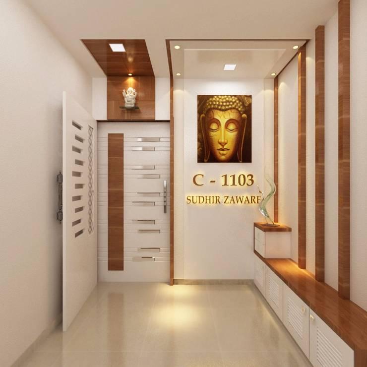 Corridor & hallway by Square 4 Design & Build, Minimalist