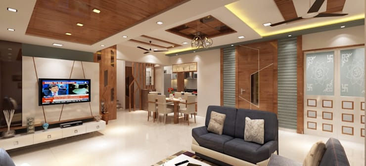 Dining area:  Dining room by Square 4 Design & Build