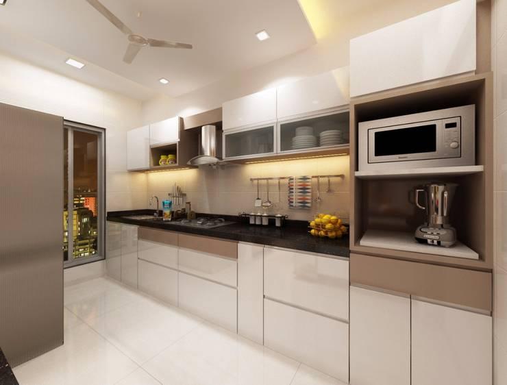 Modular kitchen:  Kitchen by Square 4 Design & Build